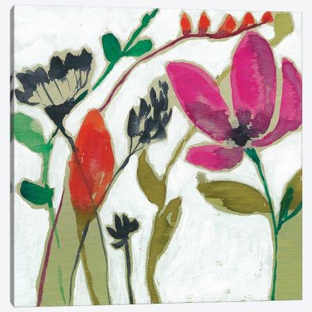 Vivid Flowers II 3-Piece Canvas #JGO458} by Jennifer Goldberger Canvas Art