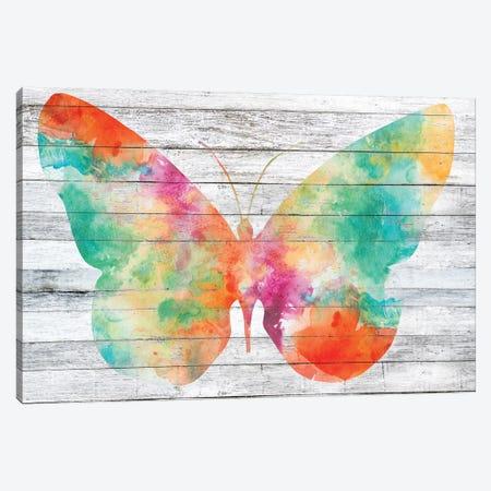 Wings on Wood I Canvas Print #JGO459} by Jennifer Goldberger Canvas Art
