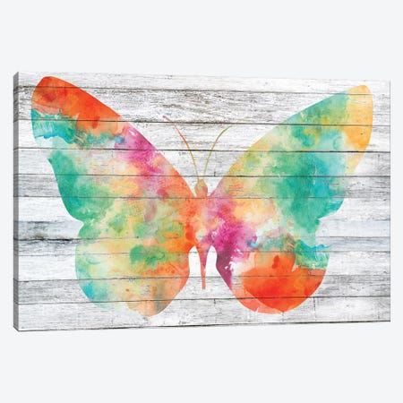Wings on Wood I Canvas Print #JGO459} by Jennifer Goldberger Canvas Art