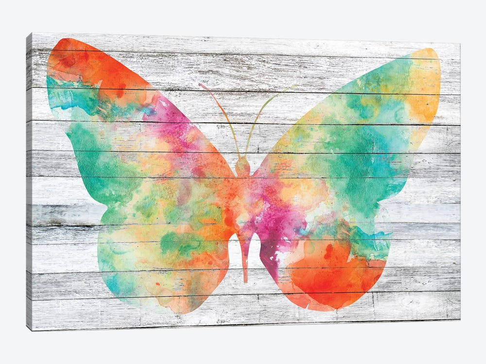 Wings on Wood I by Jennifer Goldberger 1-piece Art Print
