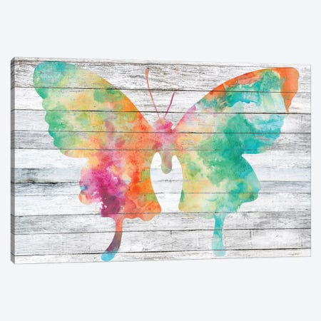 Wings on Wood II Canvas Print #JGO460} by Jennifer Goldberger Art Print