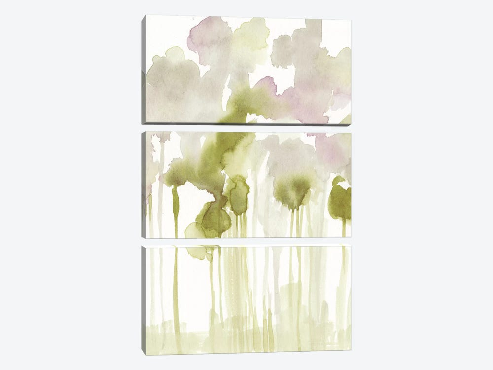 Aquarelle Forest I by Jennifer Goldberger 3-piece Canvas Art
