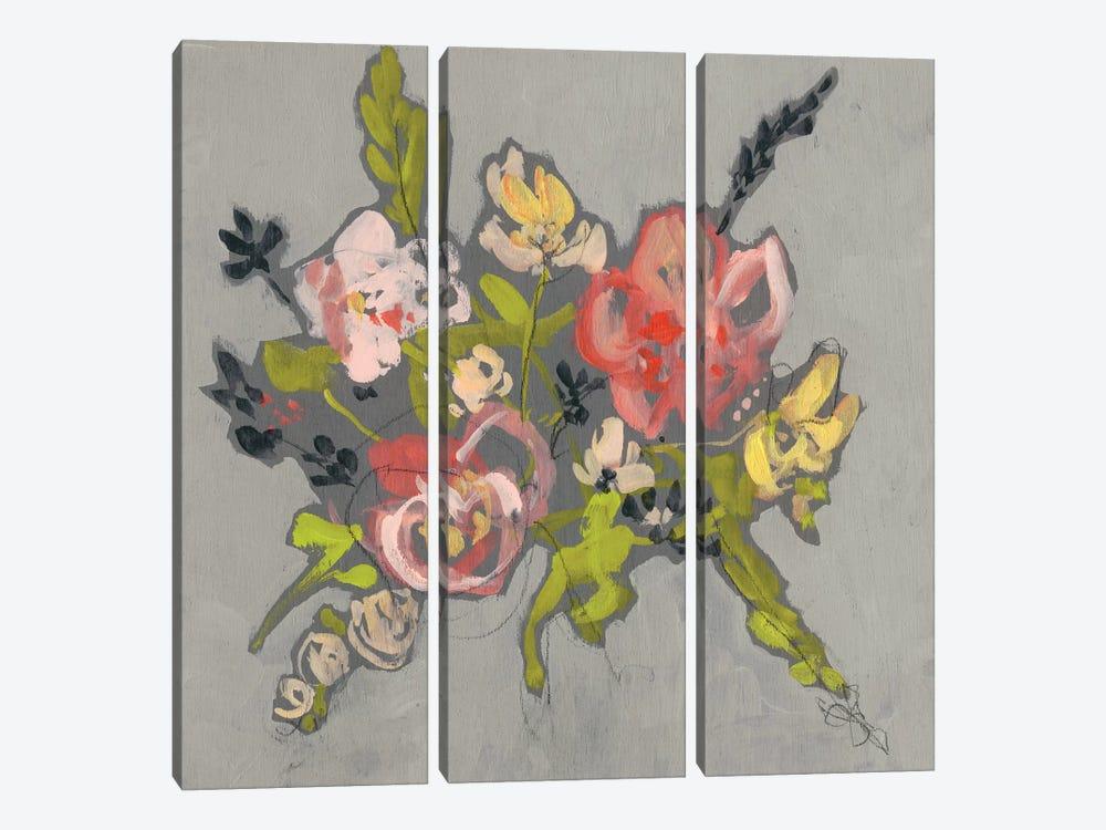 Blush & Paynes Bouquet II by Jennifer Goldberger 3-piece Canvas Art