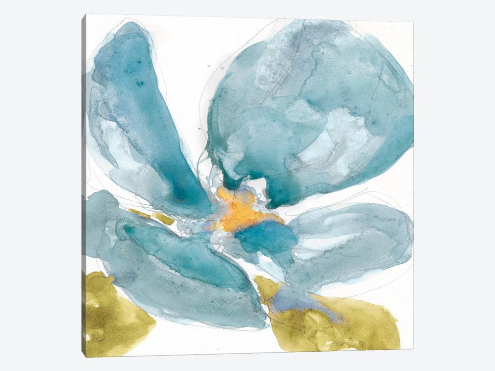 Flower Splash II by Jennifer Goldberger 1-piece Canvas Artwork