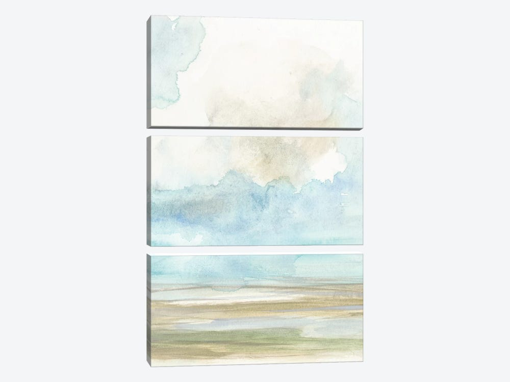Clouds Over The Marsh II by Jennifer Goldberger 3-piece Canvas Print