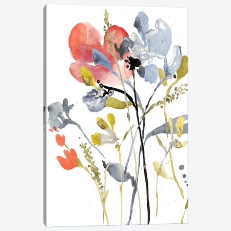 Flower Overlay I 3-Piece Canvas #JGO494} by Jennifer Goldberger Canvas Print