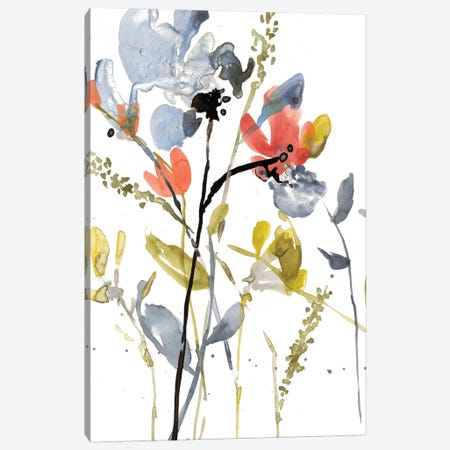 Flower Overlay II 3-Piece Canvas #JGO495} by Jennifer Goldberger Canvas Print