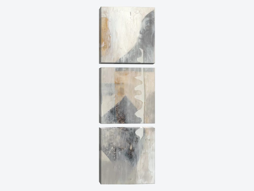 Layered Shapes II by Jennifer Goldberger 3-piece Art Print