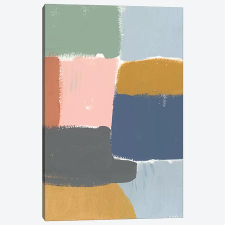 Muted Color Block I Canvas Print #JGO504} by Jennifer Goldberger Art Print