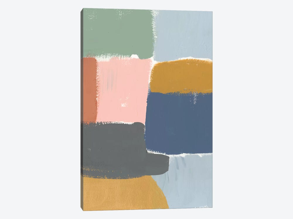 Muted Color Block I by Jennifer Goldberger 1-piece Canvas Wall Art