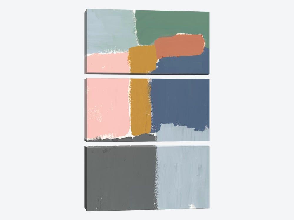 Muted Color Block II by Jennifer Goldberger 3-piece Art Print