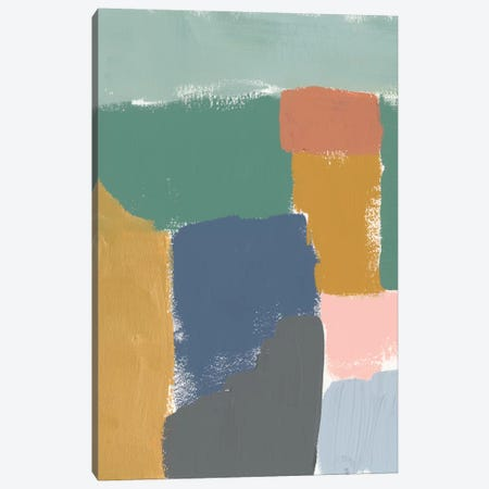 Muted Color Block III Canvas Print #JGO506} by Jennifer Goldberger Art Print