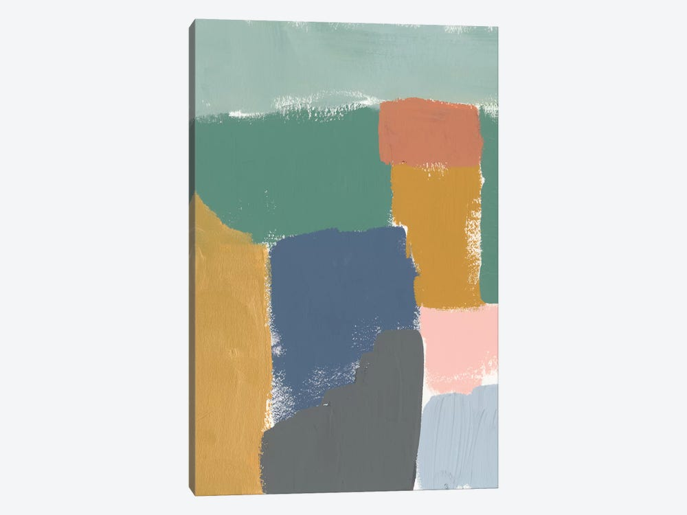 Muted Color Block III by Jennifer Goldberger 1-piece Canvas Artwork