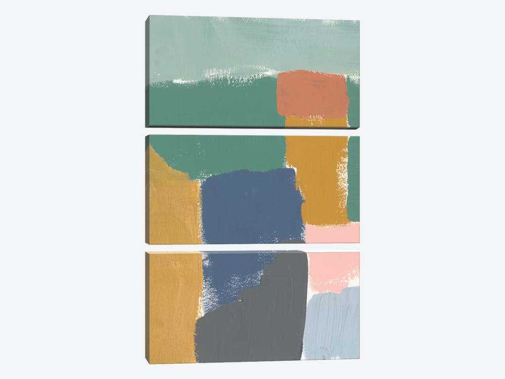 Muted Color Block III by Jennifer Goldberger 3-piece Canvas Art