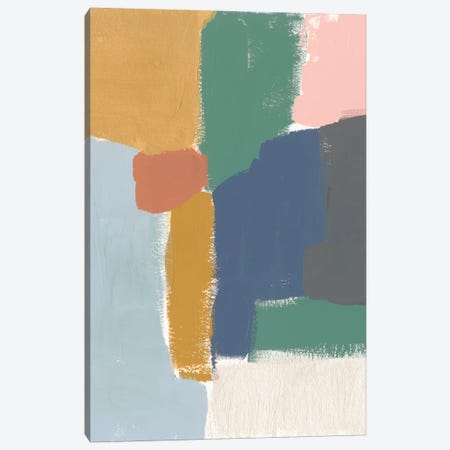 Muted Color Block IV Canvas Print #JGO507} by Jennifer Goldberger Art Print