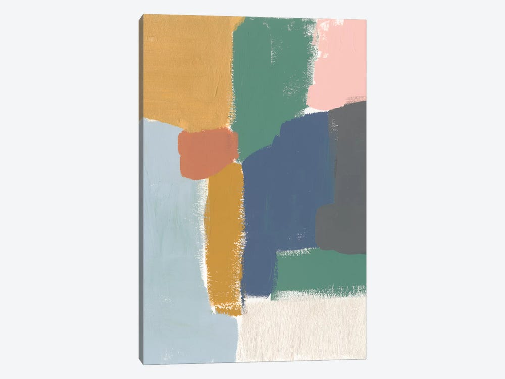 Muted Color Block IV by Jennifer Goldberger 1-piece Canvas Art Print