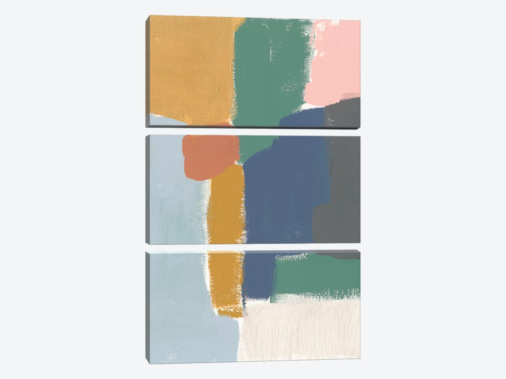Muted Color Block IV by Jennifer Goldberger 3-piece Art Print