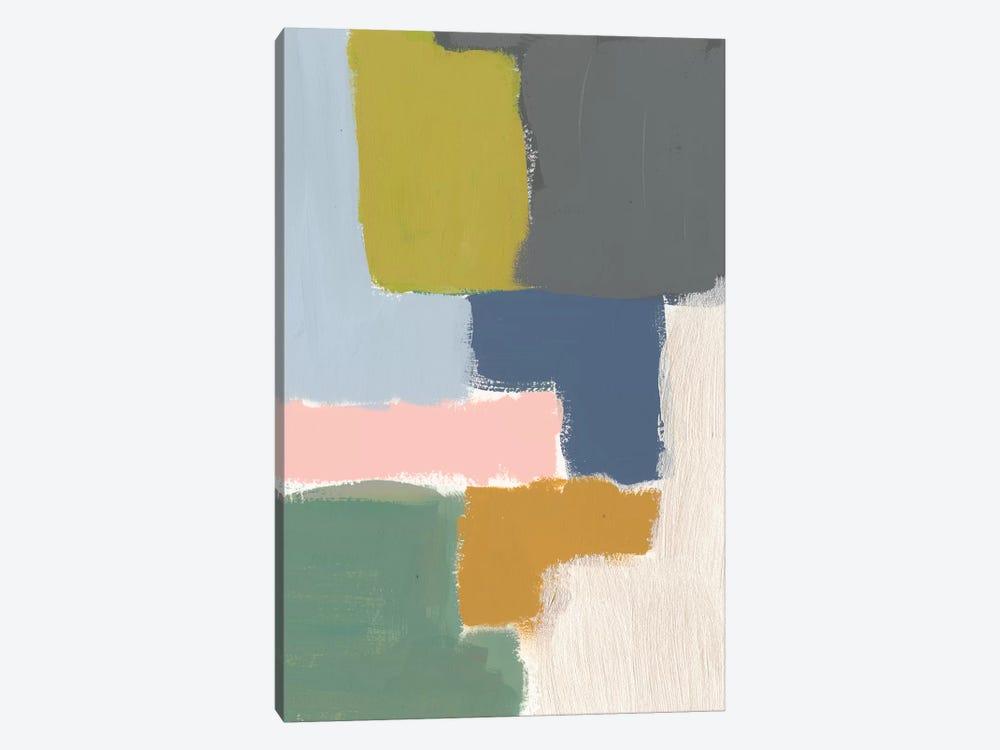 Muted Color Block V by Jennifer Goldberger 1-piece Canvas Art