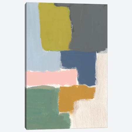 Muted Color Block V Canvas Print #JGO508} by Jennifer Goldberger Canvas Artwork