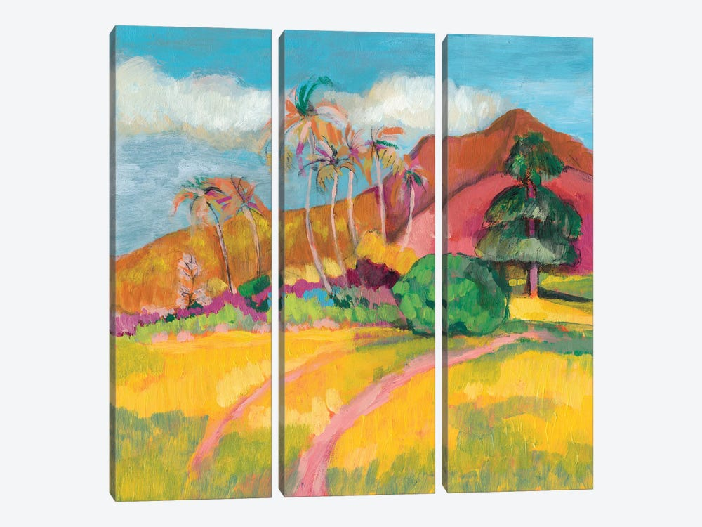 Ode To Gauguin I by Jennifer Goldberger 3-piece Art Print