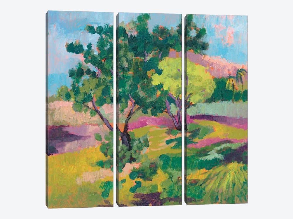 Ode To Gauguin II by Jennifer Goldberger 3-piece Canvas Wall Art