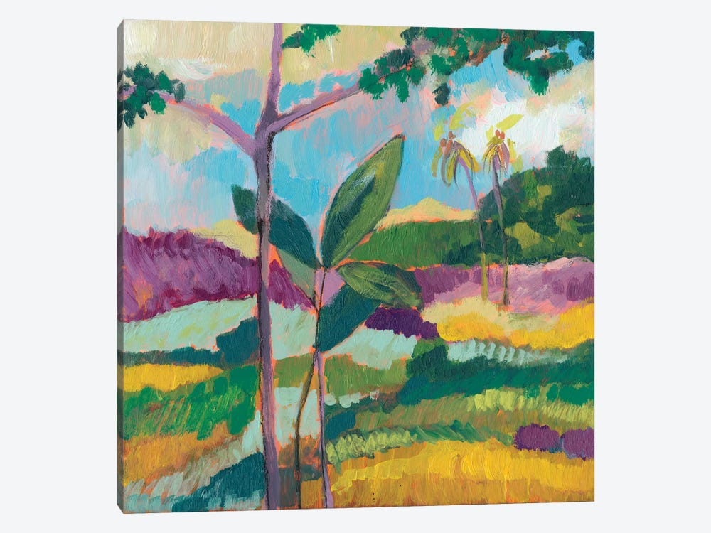 Ode To Gauguin III by Jennifer Goldberger 1-piece Canvas Art Print