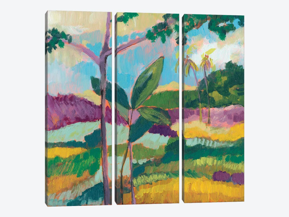 Ode To Gauguin III by Jennifer Goldberger 3-piece Canvas Art Print