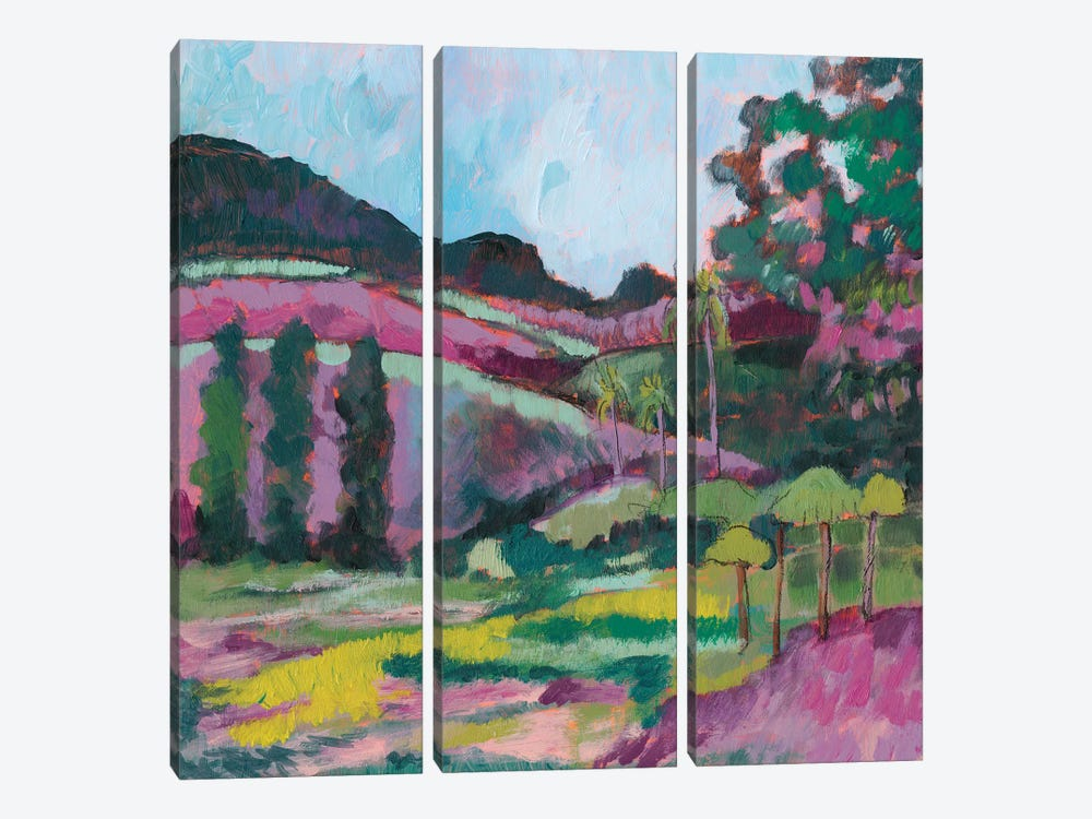 Ode To Gauguin IV by Jennifer Goldberger 3-piece Canvas Artwork