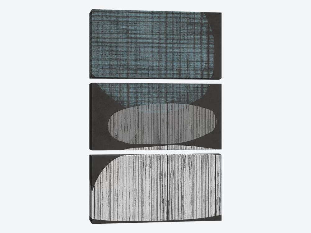 Resting Shapes II by Jennifer Goldberger 3-piece Canvas Print