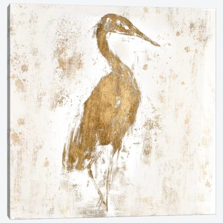 Gilded Heron I 3-Piece Canvas #JGO52} by Jennifer Goldberger Canvas Art Print