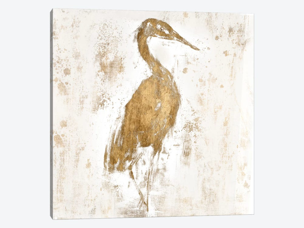 Gilded Heron I by Jennifer Goldberger 1-piece Canvas Artwork