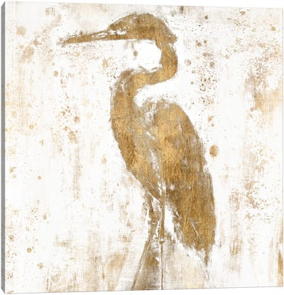 Gilded Heron II Canvas Print #JGO53