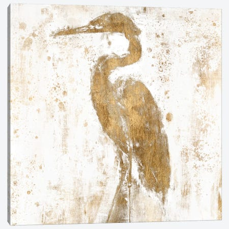 Gilded Heron II Canvas Print #JGO53} by Jennifer Goldberger Art Print