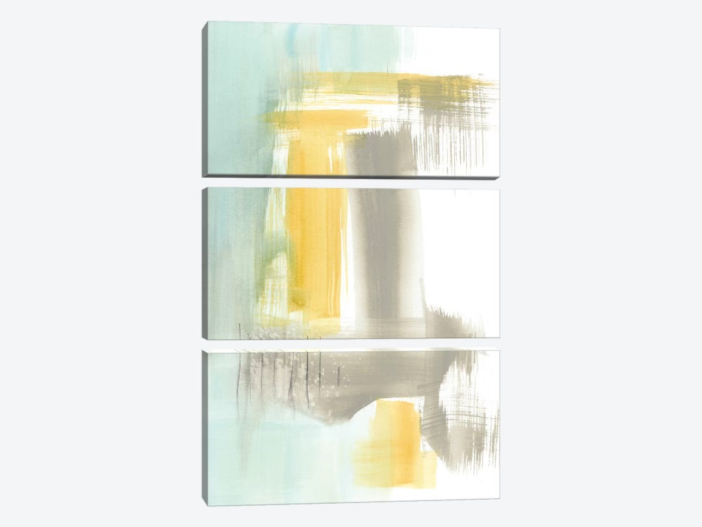 Spa Watercolor Abstract I by Jennifer Goldberger 3-piece Canvas Print