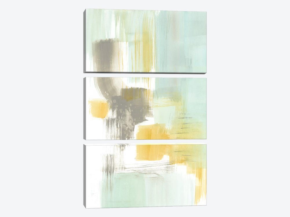 Spa Watercolor Abstract II by Jennifer Goldberger 3-piece Canvas Art