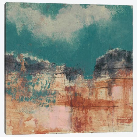 Teal Sky I Canvas Print #JGO549} by Jennifer Goldberger Canvas Artwork