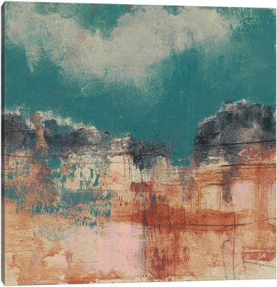 Teal Sky I Canvas Art Print