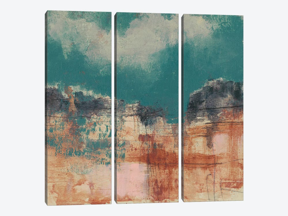 Teal Sky I by Jennifer Goldberger 3-piece Art Print