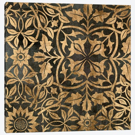 Golden Damask I Canvas Print #JGO54} by Jennifer Goldberger Canvas Wall Art