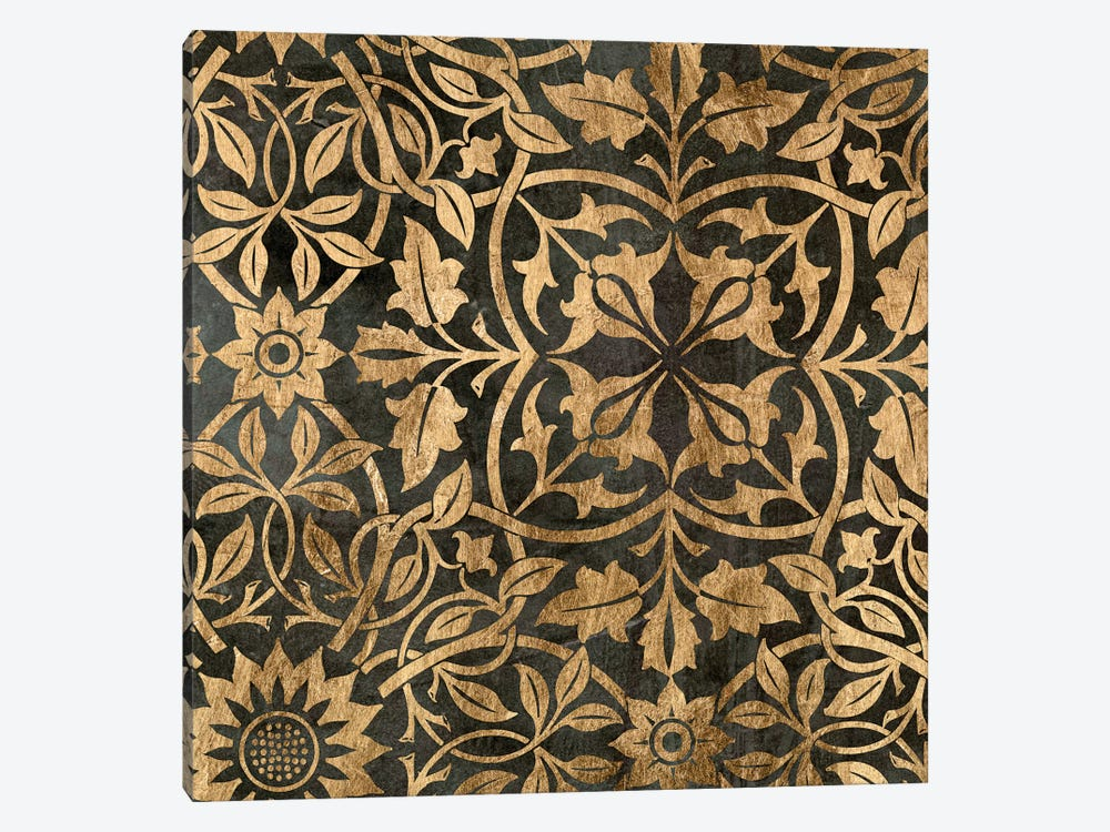 Golden Damask I by Jennifer Goldberger 1-piece Canvas Wall Art