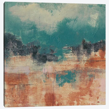 Teal Sky II Canvas Print #JGO550} by Jennifer Goldberger Canvas Art Print