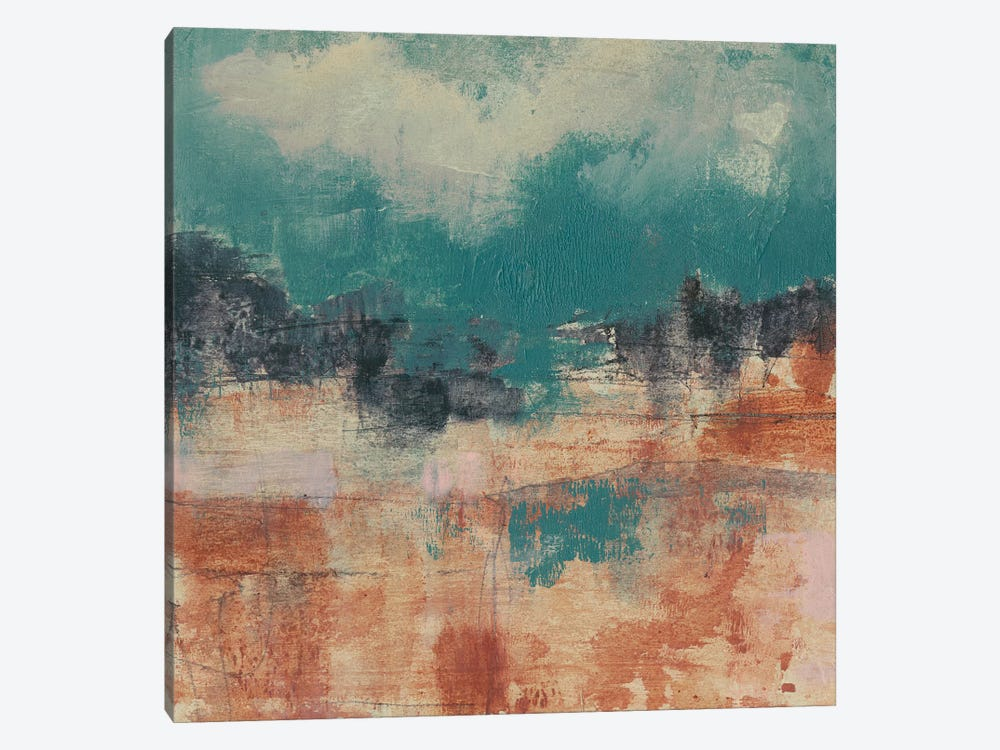 Teal Sky II by Jennifer Goldberger 1-piece Art Print