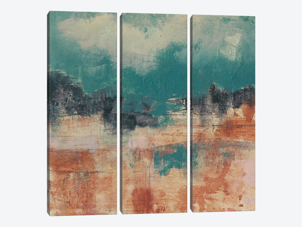 Teal Sky II by Jennifer Goldberger 3-piece Canvas Art Print