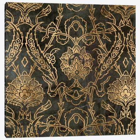 Golden Damask II Canvas Print #JGO55} by Jennifer Goldberger Canvas Wall Art