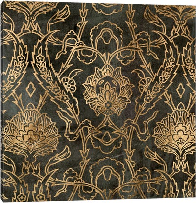 Golden Damask II Canvas Art Print