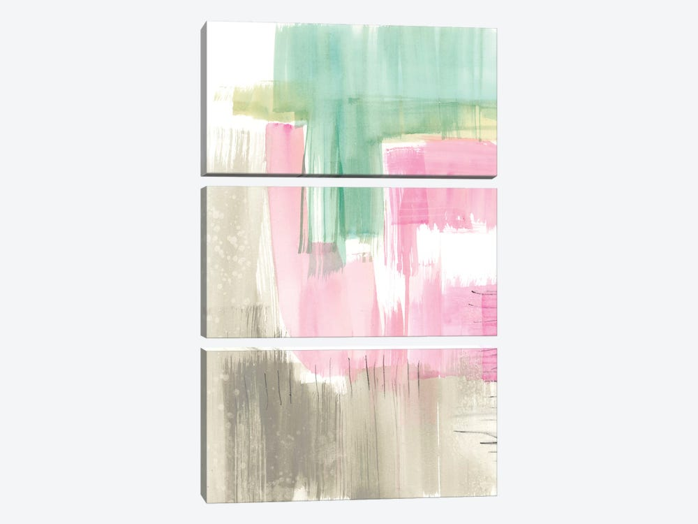 Whimsy & Watercolor II by Jennifer Goldberger 3-piece Canvas Wall Art