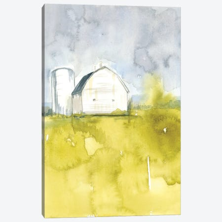 White Barn On Citron II Canvas Print #JGO566} by Jennifer Goldberger Canvas Print
