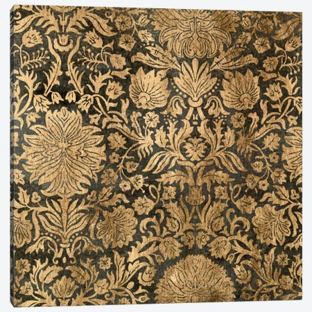 Golden Damask III Canvas Print #JGO56} by Jennifer Goldberger Canvas Wall Art