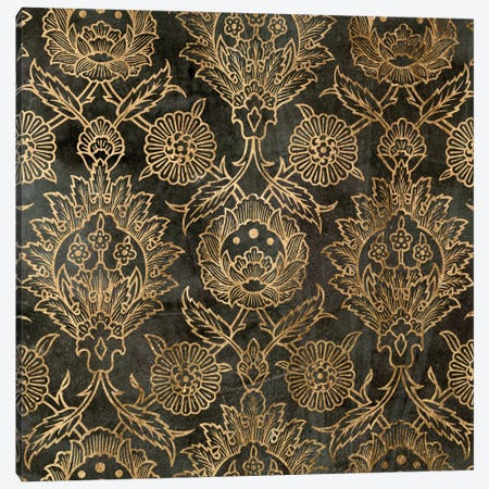 Golden Damask IV Canvas Print #JGO57} by Jennifer Goldberger Canvas Artwork