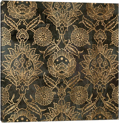 Golden Damask IV Canvas Art Print